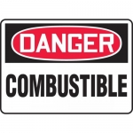 """Accuform MCHL103XP, Accu-Shield OSHA Sign """"Danger Combustible"""""""