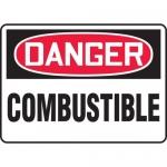 "Accuform MCHL103XV, Adhesive Dura-Vinyl OSHA Sign ""Danger Combustible"""