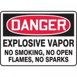 "Accuform MCHL104VA, Aluminum OSHA Sign ""Explosive Vapor No Smoking…"""