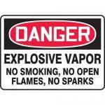 "Accuform MCHL104XV, OSHA Sign ""Explosive Vapor No Smoking…"""