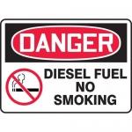 "Accuform MCHL106VA, Aluminum OSHA Sign ""Diesel Fuel No Smoking"""