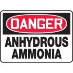"Accuform MCHL111XP, Accu-Shield OSHA Sign ""Danger Anhydrous Ammonia"""
