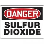 "Accuform MCHL116XP, Accu-Shield OSHA Sign ""Danger Sulfur Dioxide"""