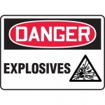 "Accuform MCHL119VA, Aluminum OSHA Sign with Legend ""Danger Explosives"""