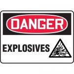 "Accuform MCHL119XV, Adhesive Dura-Vinyl OSHA Sign ""Danger Explosives"""