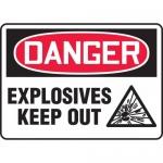 "Accuform MCHL121VA, Aluminum OSHA Sign ""Explosives Keep Out"""