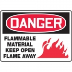 """Accuform MCHL126XV, OSHA Sign """"Flammable Material Keep Open…"""""""