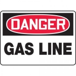 "Accuform MCHL128VA, Aluminum OSHA Sign with Legend ""Danger Gas Line"""