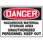 "Accuform MCHL129XF, OSHA Sign ""Hazardous Material Storage Area…"""