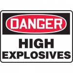 "Accuform MCHL130VA, Aluminum OSHA Sign ""Danger High Explosives"""