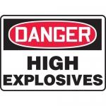 "Accuform MCHL130XV, Dura-Vinyl OSHA Sign ""Danger High Explosives"""