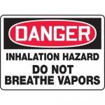 "Accuform MCHL131XF, OSHA Sign ""Inhalation Hazard Do Not Breathe…"""