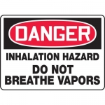 "Accuform MCHL131XL, OSHA Sign ""Inhalation Hazard Do Not Breathe…"""