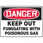 "Accuform MCHL132VA, OSHA Sign ""Danger Keep Out Fumigating with…"""
