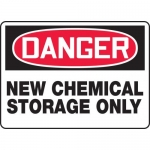 "Accuform MCHL133VA, OSHA Sign ""Danger New Chemical Storage Only"""
