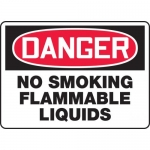 "Accuform MCHL134VA, OSHA Sign ""Danger No Smoking Flammable Liquids"""