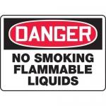 "Accuform MCHL134XL, OSHA Sign ""Danger No Smoking Flammable Liquids"""