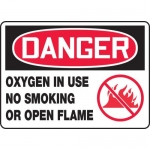 "Accuform MCHL137VA, OSHA Sign ""Danger Oxygen in Use No Smoking…"""