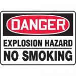 "Accuform MCHL138XF, OSHA Sign ""Danger Explosion Hazard No Smoking"""