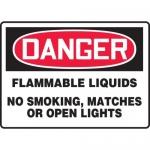 "Accuform MCHL143VA, OSHA Sign ""Flammable Liquids No Smoking…"""