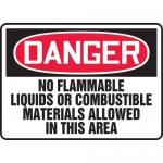 """Accuform MCHL146VA, OSHA Sign """"Danger No Flammable Liquids…"""""""