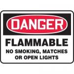 "Accuform MCHL147VA, OSHA Sign ""Flammable No Smoking, Matches…"""