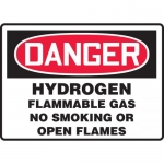 "Accuform MCHL156VA, OSHA Sign ""Hydrogen Flammable Gas No Smoking…"""