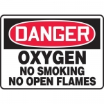 "Accuform MCHL160XL, OSHA Sign ""Oxygen No Smoking No Open Flames"""