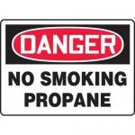 "Accuform MCHL161VA, Aluminum OSHA Sign ""Danger No Smoking Propane"""