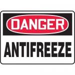 "Accuform MCHL169XV, Adhesive Dura-Vinyl OSHA Sign ""Danger Antifreeze"""