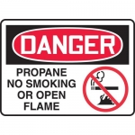 "Accuform MCHL172XL, OSHA Sign ""Propane No Smoking or Open Flame"""