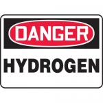 "Accuform MCHL178XV, Adhesive Dura-Vinyl OSHA Sign ""Danger Hydrogen"""