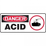 "Accuform MCHL182VA, Aluminum OSHA Sign with Legend ""Danger Acid"""
