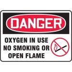 "Accuform MCHL185XL, OSHA Sign ""Oxygen in Use No Smoking or Open…"""