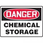 "Accuform MCHL191XF, OSHA Sign ""Danger Chemical Storage"""