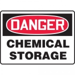 "Accuform MCHL192VA, Aluminum OSHA Sign ""Danger Chemical Storage"""