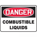 "Accuform MCHL199XL, Aluma-Lite OSHA Sign ""Danger Combustible Liquids"""
