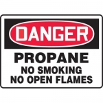 "Accuform MCHL200XL, OSHA Sign ""Propane No Smoking No Open Flames"""
