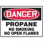 "Accuform MCHL200XV, OSHA Sign ""Propane No Smoking No Open Flames"""