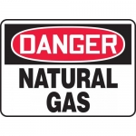 "Accuform MCHL202VA, Aluminum OSHA Sign ""Danger Natural Gas"""