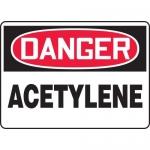 "Accuform MCHL207XV, Adhesive Dura-Vinyl OSHA Sign ""Danger Acetylene"""