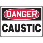 "Accuform MCHL209XL, Aluma-Lite OSHA Sign with Legend ""Danger Caustic"""