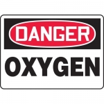 "Accuform MCHL214VA, Aluminum OSHA Sign with Legend ""Danger Oxygen"""