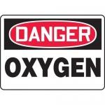 "Accuform MCHL214VP, Plastic OSHA Sign with Legend ""Danger Oxygen"""