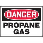 "Accuform MCHL217VA, Aluminum OSHA Sign ""Danger Propane Gas"""