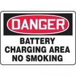 "Accuform MCHL220VA, OSHA Sign ""Battery Charging Area No Smoking"""