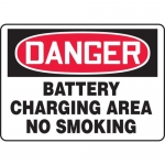 "Accuform MCHL220XL, OSHA Sign ""Battery Charging Area No Smoking"""
