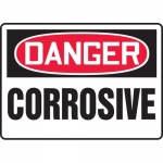 "Accuform MCHL222VA, Aluminum OSHA Sign with Legend ""Danger Corrosive"""