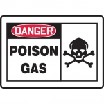 "Accuform MCHL227VA, Aluminum OSHA Sign with Legend ""Danger Poison Gas"""