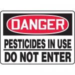 "Accuform MCHL230VA, OSHA Sign ""Danger Pesticides in Use Do Not Enter"""